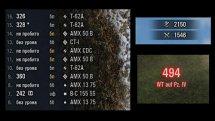 Стандартная дамаг панель с логом повреждений и звуками для WOT 0.9.16