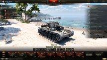 Пляжный ангар «Летний отпуск» для World of Tanks 0.9.15.2