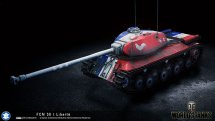 """Шкурка FCM 50t """"Флаг Франции"""" для World of Tanks 0.9.13"""