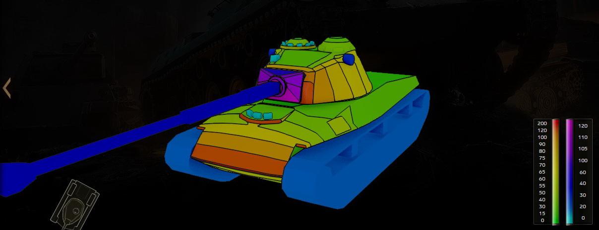 Схема бронирования Panzer 58