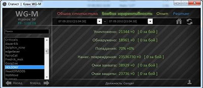 Статист для World of Tanks