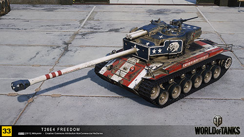 Шкурка T26E4 «Флаг США» для World of Tanks 0.9.13
