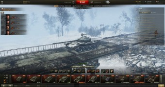 Зимний ангар на мосту для World of Tanks 0.9.10