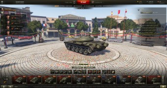 Дневной евро ангар для World of Tanks 0.9.14.1
