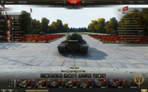 Ангар в городском парке для World of Tanks 0.9.17.0.3