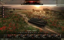 Ангар на маковом поле для World of Tanks 0.9.17.0.2