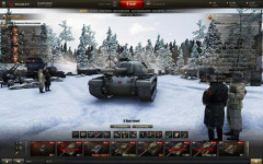 Зимний ангар с людьми для World of Tanks 0.9.8.1