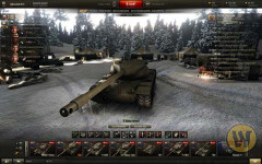 Новогодний ангар для World of Tanks 0.9.10