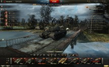Весенний ангар на мосту для World of Tanks 0.9.10